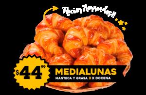Medialunas $44.99 de Manteca y Grasa x Docena