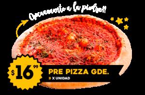 Pre Pizza Grande de Tomate $16.99 x unidad