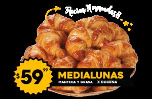 Medialunas $59.99 de Manteca y Grasa x Docena