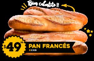 Pan Francés $49.99 x Kg